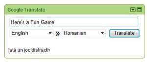 googles iTranslate widget