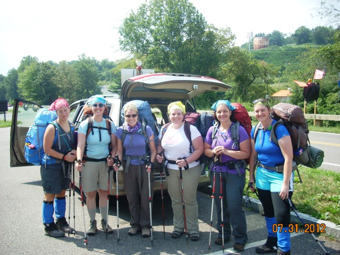 six women embark on their AT hike