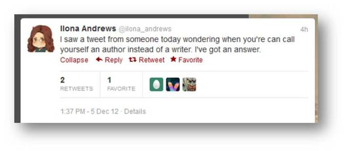 I saw a tweet from someone today wondering when you're can call yourself an author instead of a writer. I've got an answer.