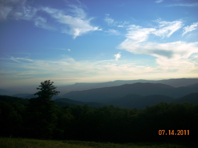Appalachian trail view of Shenandoah Valley