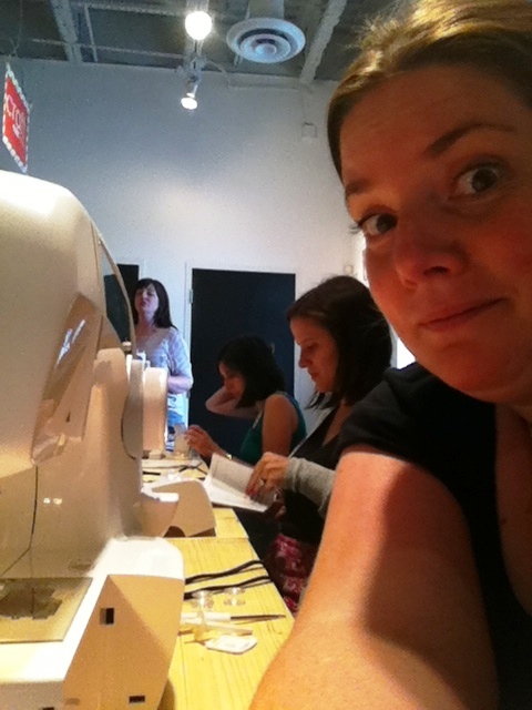 AK at Beehive sewing class