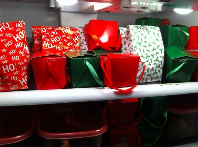 Christmas takes over the fridge