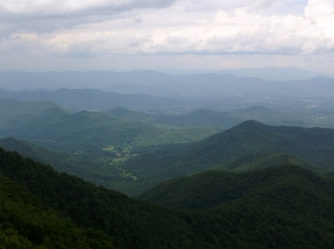 view from Albert Mountain NC