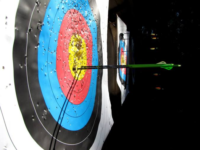 bow and arrow target shooting photo by AK Anderson